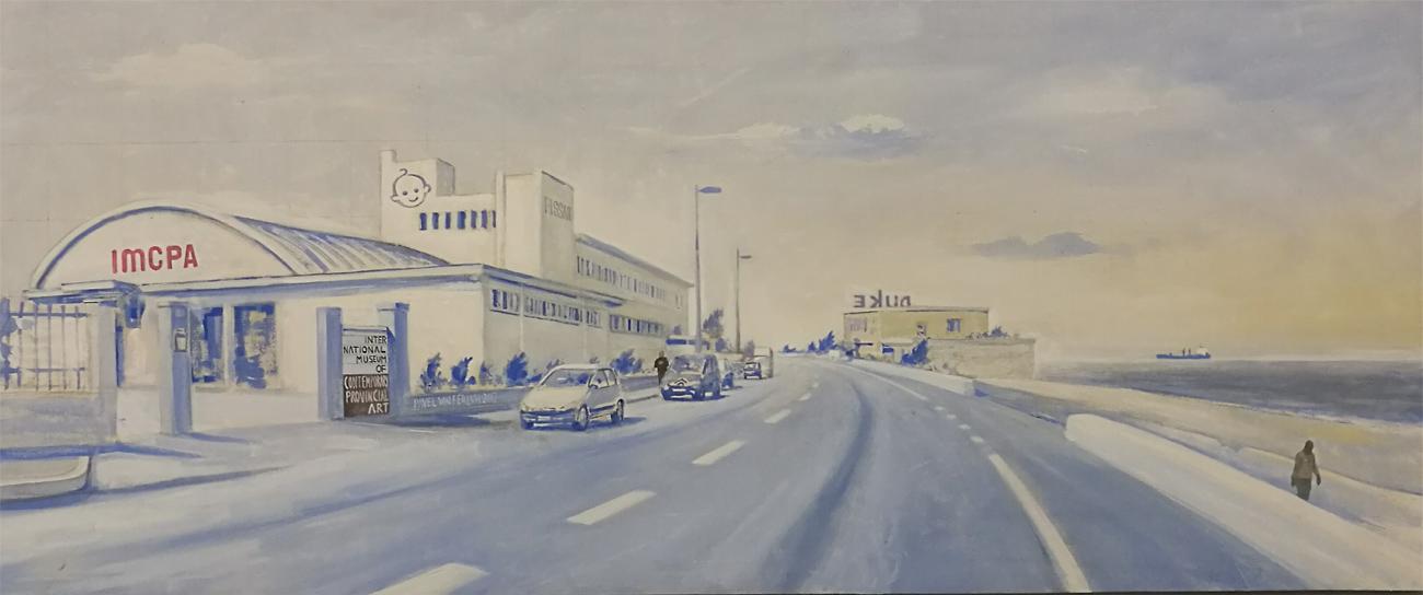 IMCPA International museum of contemporary provincial art – Acrilico su tela – 154×64